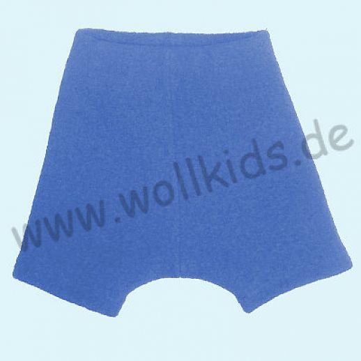 Shortie Bermuda Hose in blau Öko-Walk 100% Schurwolle WOLLKIDS