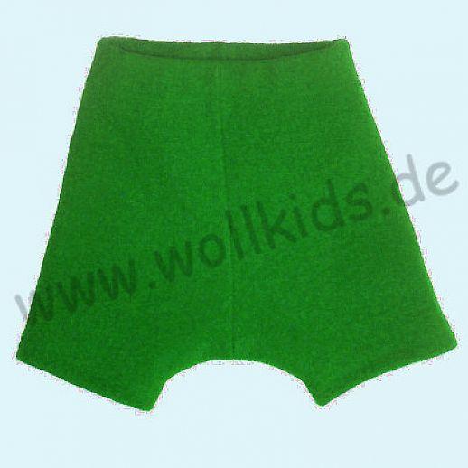 Shortie Bermuda Hose in gras Öko-Walk 100% Schurwolle WOLLKIDS