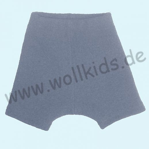 Shortie Bermuda Hose in grau Öko-Walk 100% Schurwolle WOLLKIDS