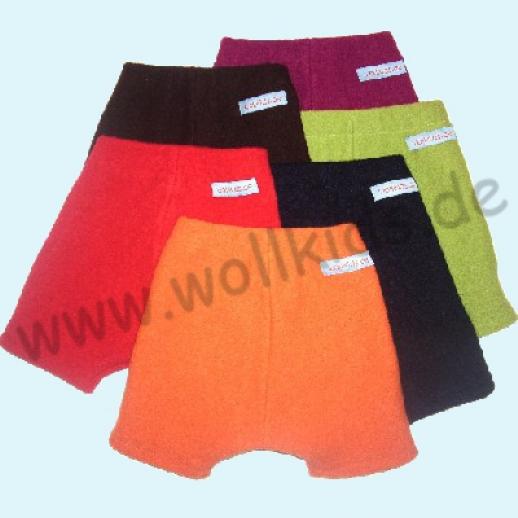 Shortie Bermuda Hose 13 Farben Öko-Walk 100% Schurwolle WOLLKIDS