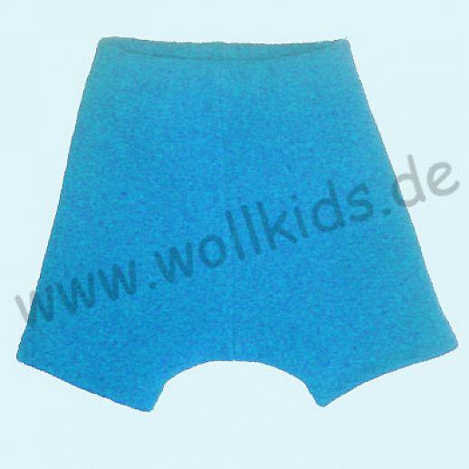 Shortie Bermuda Hose in türkis Öko-Walk 100% Schurwolle WOLLKIDS
