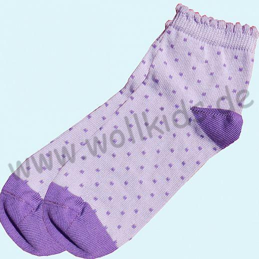 NEU: Grödo Natur - BIO-Baumwolle Grödo Socke Mädchen flieder lila Punkte kbA BW Organic GOTS Sneaker