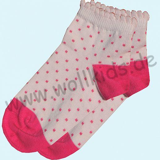 NEU: Grödo Natur - BIO-Baumwolle Grödo Socke Mädchen rose pinke Punkte kbA BW Organic GOTS Sneaker