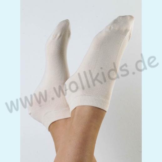 ALBERO - BIO Baumwolle - Damen- und Herren- Sneakerssocke natur