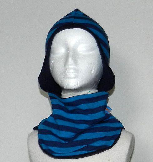 WOLLKIDS Schal Schlupfschal - Einheitsgröße - Baumwolle - Fleece - Streifen
