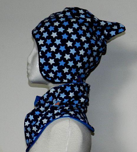 WOLLKIDS Mütze Kindermütze - KU 49-54, Unikate - Baumwolle - Fleece