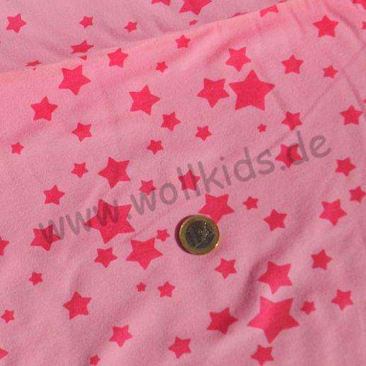 Wunderschöner Interlock in rosa mit Sternen - Baumwolle - Mädchentraum