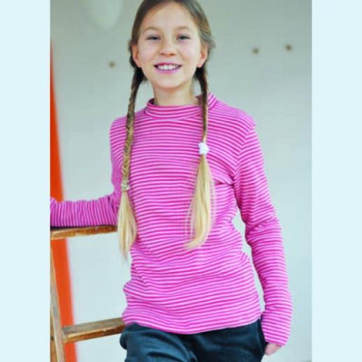 Storchenkinder - Ringel Pulli pink rosa - BIO BAUMWOLLE kbA