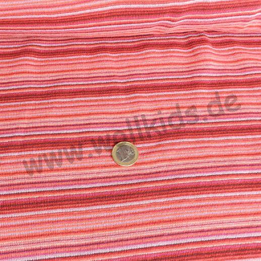 Baumwoll-Strick ☆ rot bunte Ringel ☆ tolle Qualität ☆ ideal für Baby und Kind