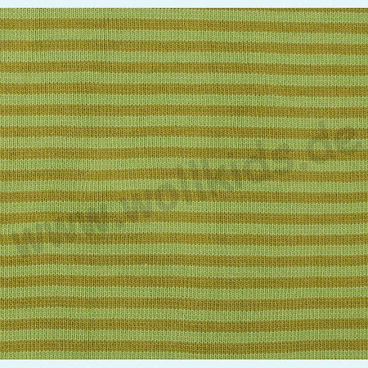 Wundervoller Baumwoll - Bündchen Stoff kiwi heugrün Ringel - griffig & weich zugleich