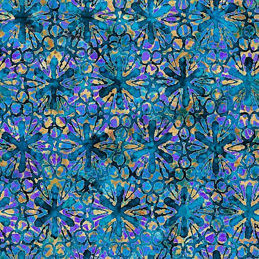 Swafing Tropicalia Patchwork - Baumwolle - tolle Qualität - wunderschön Blumen blau