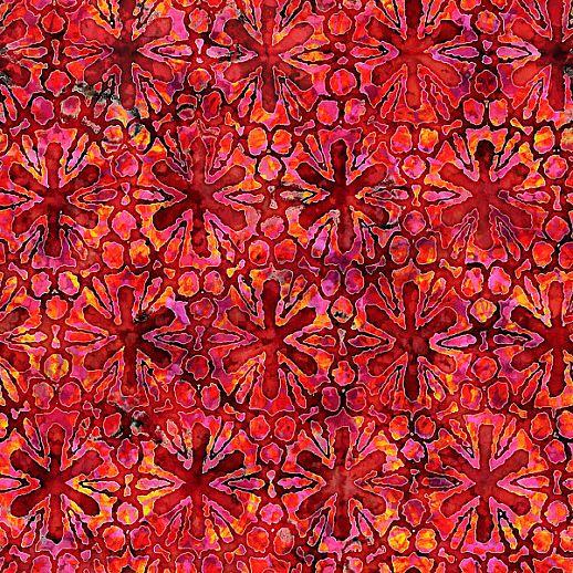 Swafing Tropicalia Patchwork - Baumwolle - tolle Qualität - wunderschön Blumen bordeaux