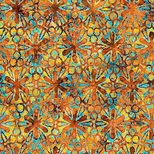 Swafing Tropicalia Patchwork - Baumwolle - tolle Qualität - wunderschön Blumen terra