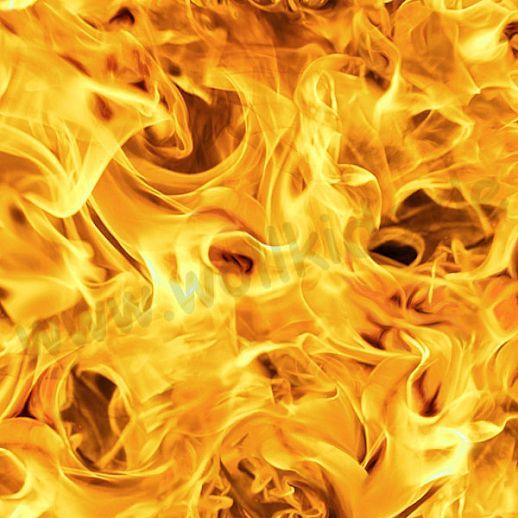 Swafing Feuer - Baumwolle - Webware - tolle Qualität - wunderschön Flammen gelb orange