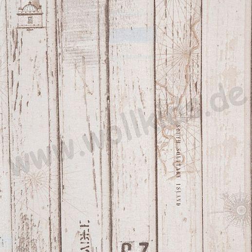 Swafing Holzbretter Baumwolle - Webware - tolle Qualität - beige