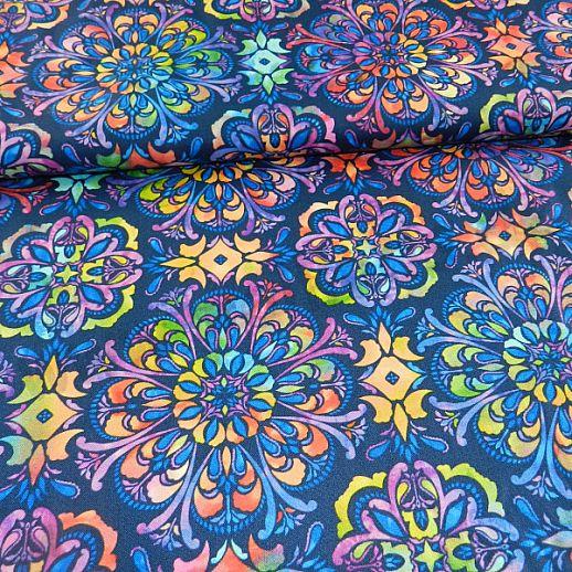 Swafing Butterly Mandala Patchwork - Baumwolle - tolle Qualität - wunderschön Mandala marine