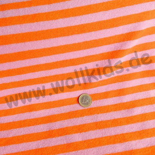 Bambus ☆ Sweatfrottee ☆ orange-pink ☆ traumhaft weich ☆ ideal für Baby und Kind