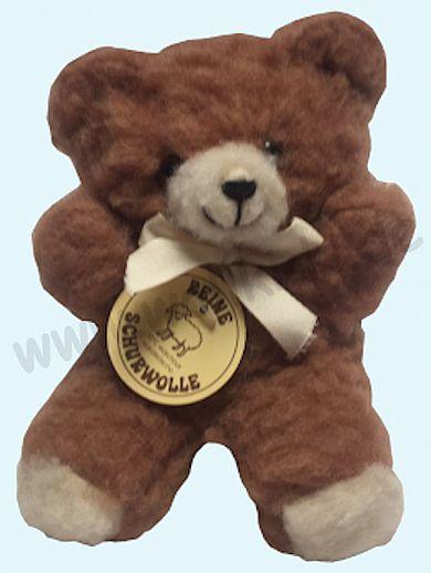 Schurwoll-Teddy - reine Schurwolle - Schmusetiere aus Wolle - Kuscheltier aus natürlicher Schafwolle - braun