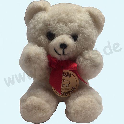 Schurwoll-Teddy - reine Schurwolle - Schmusetiere aus Wolle - Kuscheltier aus natürlicher Schafwolle ca 26cm