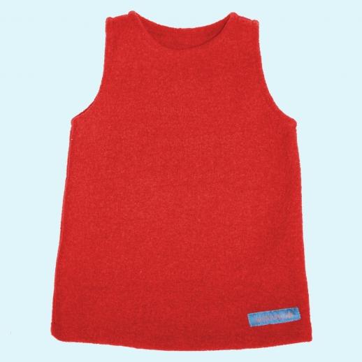 Tolles Walk-Kleid rot uni Ökowalk BIO