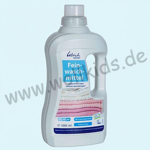 Ulrich natürlich: Feinwaschmittel Konzentrat für Wolle & Seide - 1l Flasche 100% Recyclingkunststoff