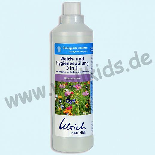Ulrich natürlich: Wäschespülung Hygienespüler Weichspüler 3 in 1 Blumenwiese