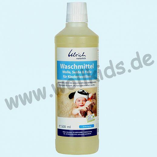 Ulrich natürlich: Waschmittel für Wolle, Seide und Felle für Kindertextilien mit Rückfetter - 500ml