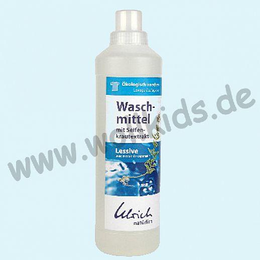 Ulrich natürlich: Waschmittel mit Seifenkraut, flüssig - 1l Flasche - ökologisch Waschen