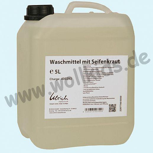 Ulrich natürlich: Waschmittel mit Seifenkraut, flüssig - 5l Kanister- ökologisch Waschen