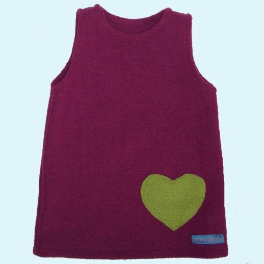 Walk-Kleid Beere mit Herz Ökowalk
