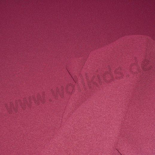 Hochwertiger Walkstoff - 100% Schurwolle - himbeer aus Italien