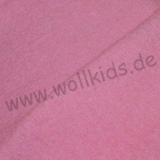 Hochwertiger Walkstoff - 100% Schurwolle - altrosa aus Italien