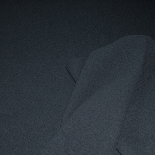 Hochwertiger Walkstoff - 100% Schurwolle - anthrazit aus Italien