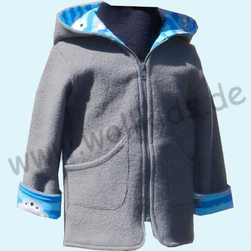 SALE WOLLKIDS: Walkjacke mit Baumwollfutter grau blau mit Koala WALK