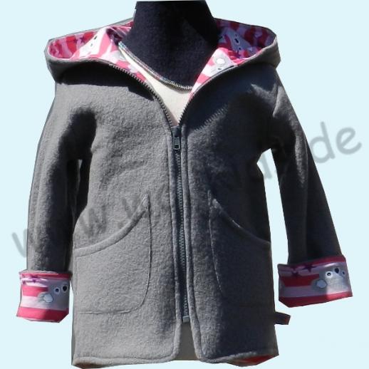 SALE WOLLKIDS: Walkjacke mit Baumwollfutter grau pink mit Koala WALK