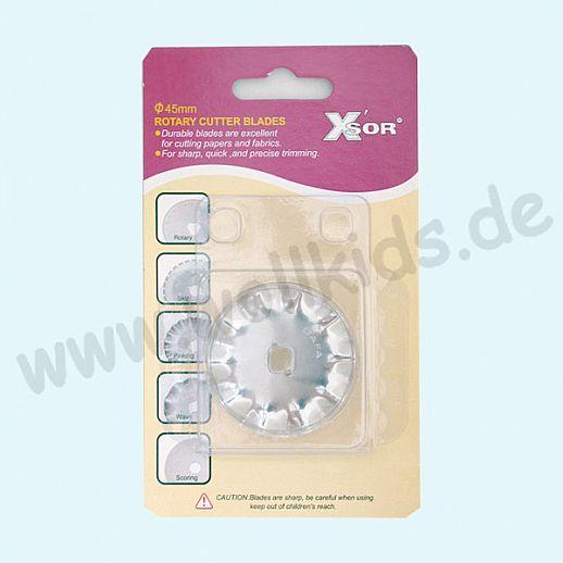XSOR - Ersatzklinge für Rollenschneider - 45mm Wellenklinge - Rollschneider - Edelstahl - genial