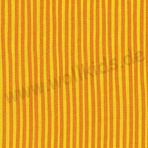 Rest 31cm Westfalenstoffe kbA Baumwolle Junge Linie BIO Baumwolle Streifen gelb