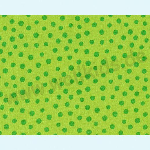 Rest 28cm Westfalenstoffe kbA Baumwolle Junge Linie BIO Baumwolle große Pünktchen