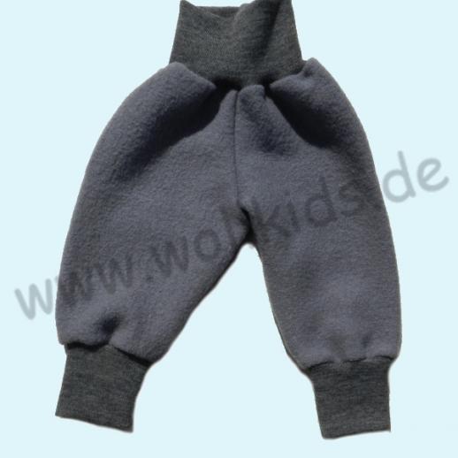Wohlfühlhose - Walkhose mit Nabelbund - hellgrau Schurwolle