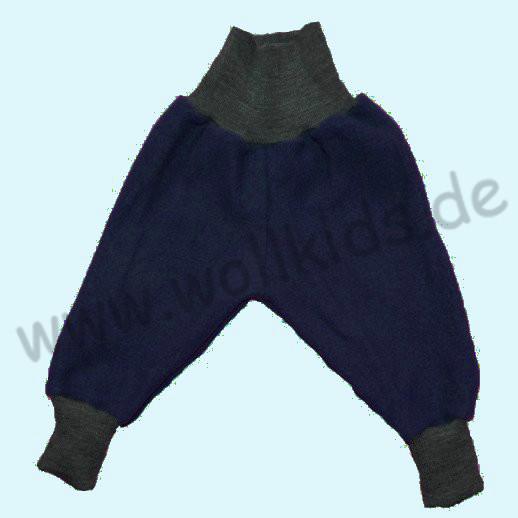 Wohlfühlhose - Walkhose mit Nabelbund - navy blau