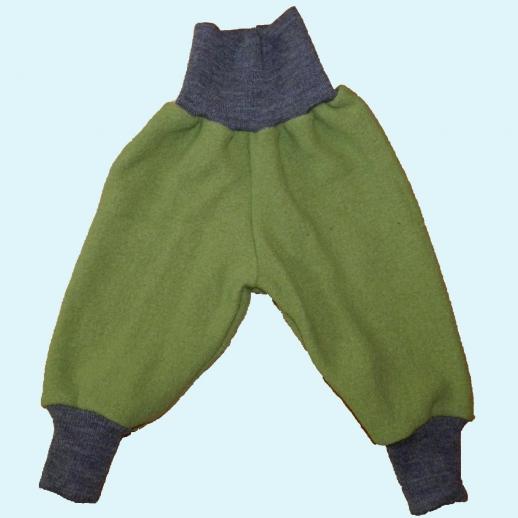 Wohlfühlhose - Walkhose mit Nabelbund - apfelgrün