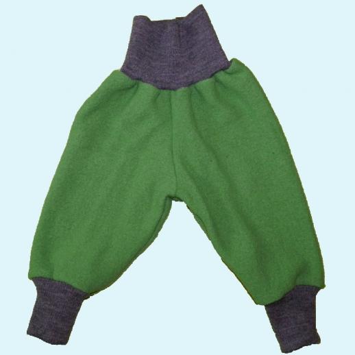 Wohlfühlhose - Walkhose mit Nabelbund - grasgrün
