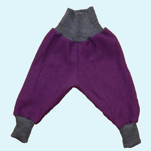 Wohlfühlhose - Walkhose mit Nabelbund - lila