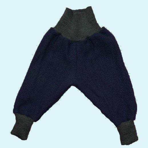 Wohlfühlhose - Walkhose mit Nabelbund - marine