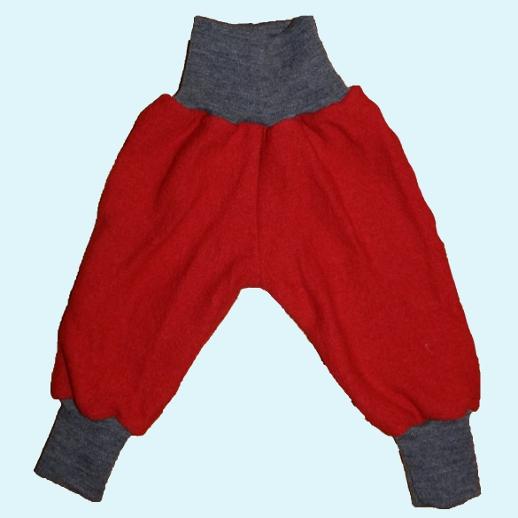 Wohlfühlhose - Walkhose mit Nabelbund - rot