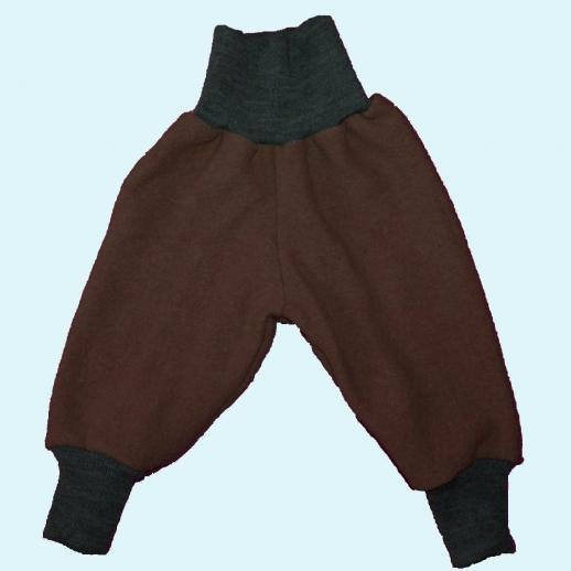 Wohlfühlhose - Walkhose mit Nabelbund - schoko