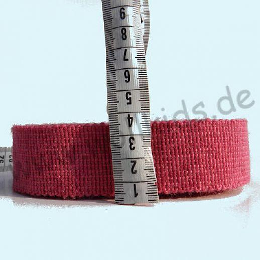 Wollborte - 100% Schurwolle - pink - Tresse Wolltresse - Einfassband