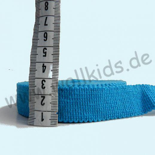 Wollborte - 100% Schurwolle - türkis - Tresse Wolltresse - Einfassband
