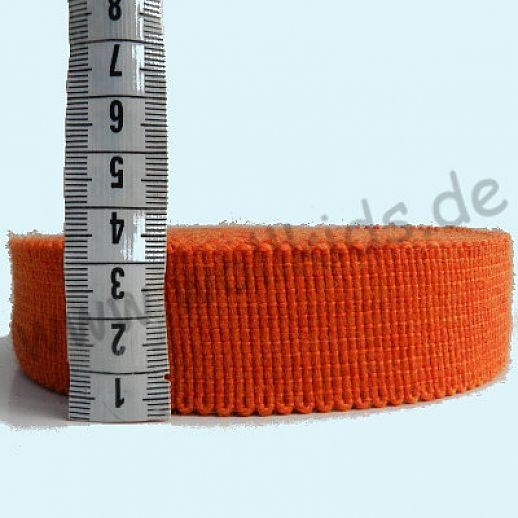 Wollborte - 100% Schurwolle - orange - Tresse Wolltresse - Einfassband