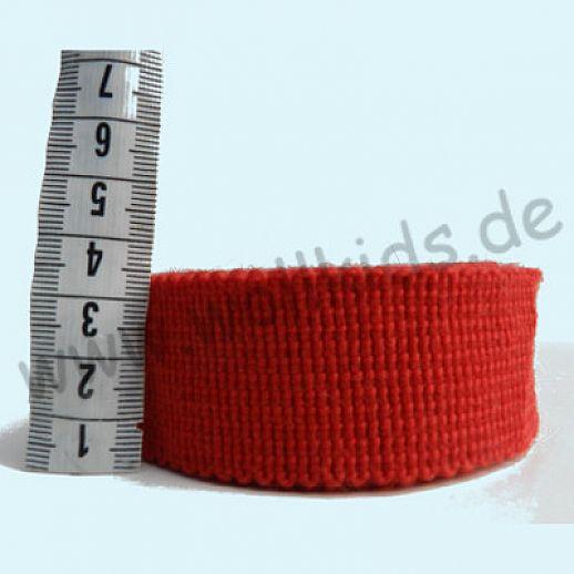 Wollborte - 100% Schurwolle - rot - Tresse Wolltresse - Einfassband